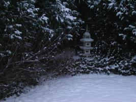 My backyard Pagoda in the snow.